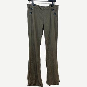 CALI 1850 Olive Green Linen Pant L